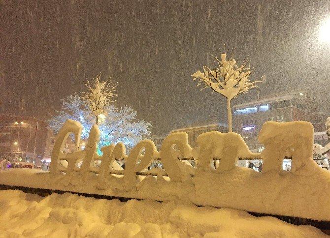 Yoğun Kar Yağışının Giresun'da Kartpostallık Görüntüler Ortaya Çıktı