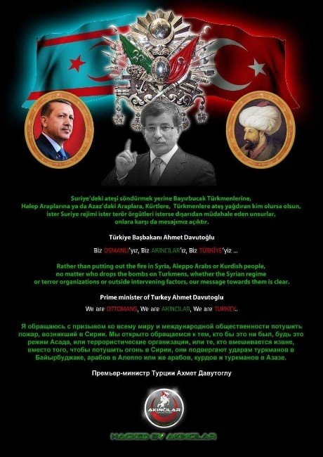 Akıncılar, Rusya Parlamentosu Ve İçişleri Bakanlığını Hackledi