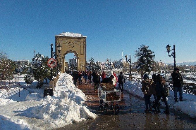 Çarşamba'da Karla Mücadele