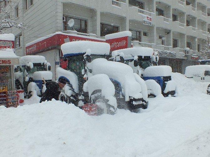 Malazgirt'te Kar, Hayatı Durma Noktasına Getirdi