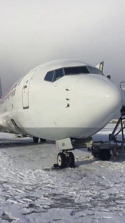 Anadolujet uçağına yıldırım isabet etti