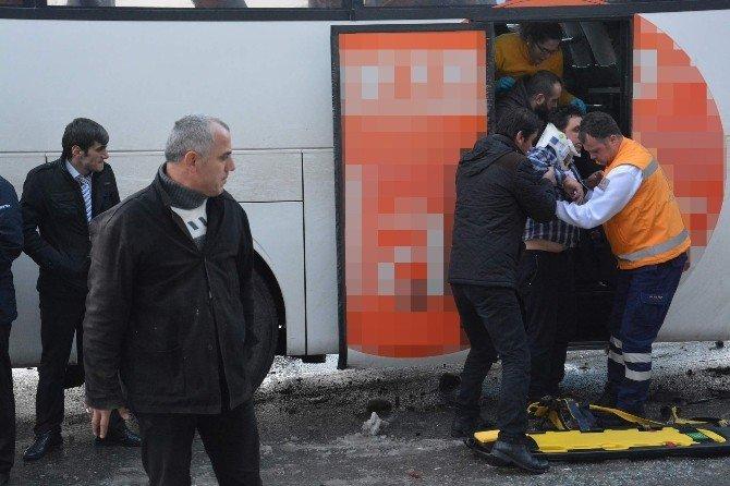 Trabzon'da Kar Yağışı Kazaları Beraberinde Getirdi