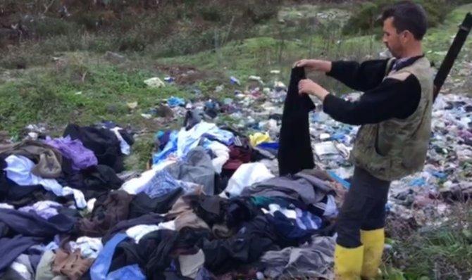 Türkmenlere gönderilen yardımlar, Yayladağı'nda çöpe atılmış
