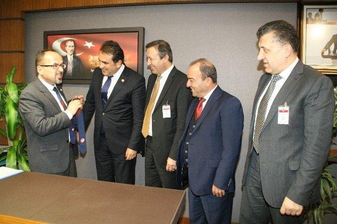 Avrupa Zonguldaklılar Derneği Başkanı Karakulak Ve Havaalanı Yönetiminden Milletvekillerine Ziyaret