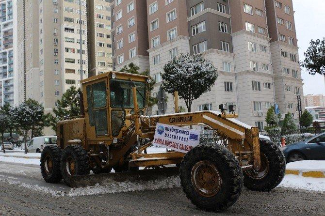 Büyükçekmece Belediyesi Karla Mücadelede Tam Not Aldı