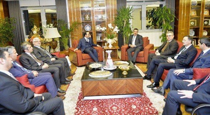 KTO Heyetinden Gümrük Ve Ticaret Bakanı Bülent Tüfenkci'ye Ziyaret