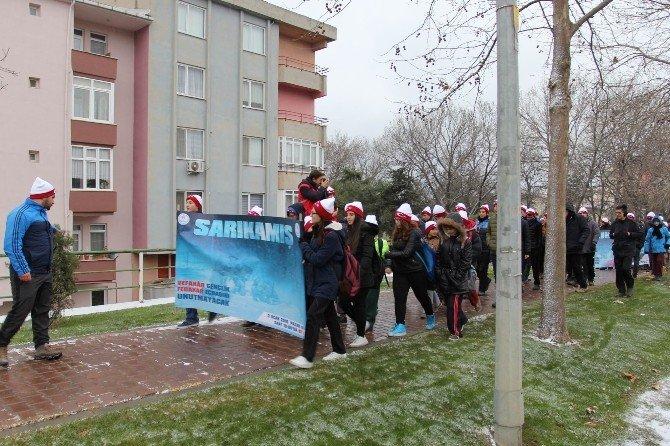 Tekirdağlılar Kar Yağışı Altında Sarıkamış Şehitlerini Andı
