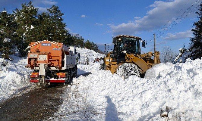 Trabzon Büyükşehir Belediyesi Kar Mücadelesini Sürdürüyor