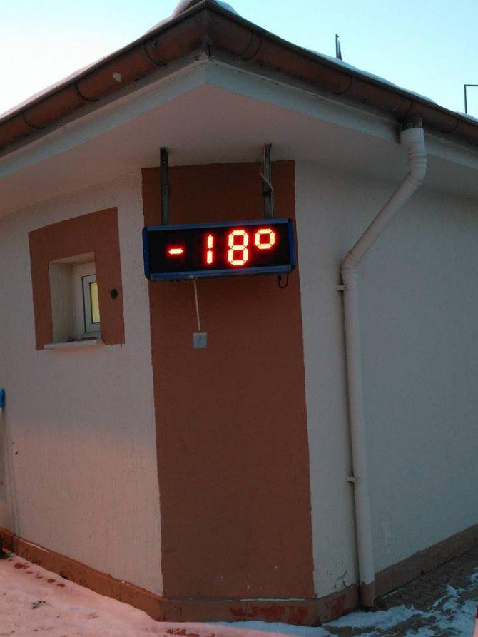Yozgat'ta hava sıcaklığı eksi 12 dereceye kadar düştü