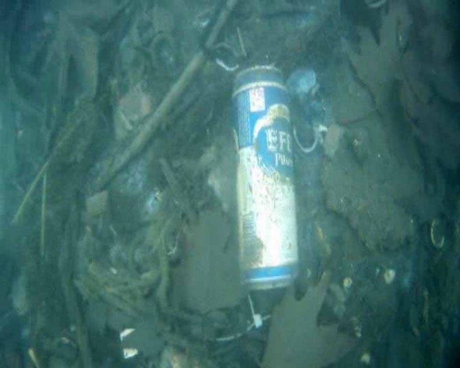 Ereğli sahilinde su altındaki kirliliği görüntüleyip çıkan atıkları sergilediler