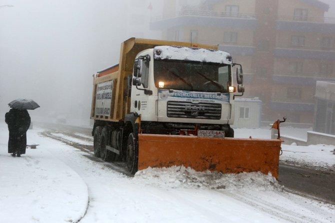 Yenimahalle'de kar alarmı