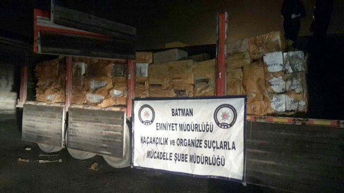 Kömür torbaları arasında sigara kaçakçılığı