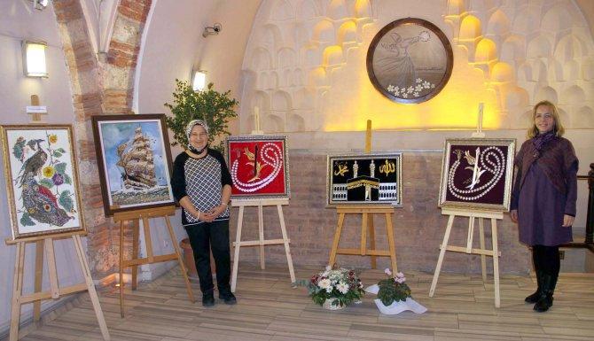 Bursa'da resim, taş ve filografi sergisi açıldı