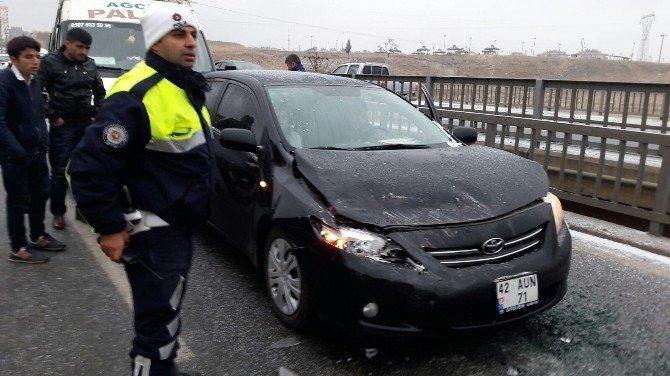 Eğri Çayı Köprüsü'nde Ki 2 Farklı Kazada, 4 Araç Birbirine Girdi