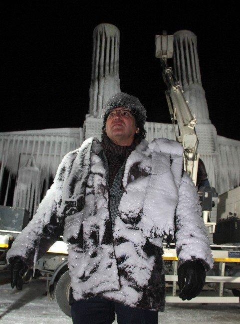 Çifte Minareler; Buz Ve Ateş Eserinin Açılışı Yapıldı