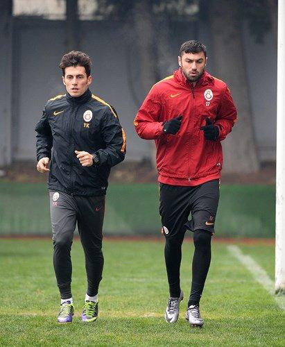 Galatasaray'da ikinci yarı hazırlıkları sürüyor