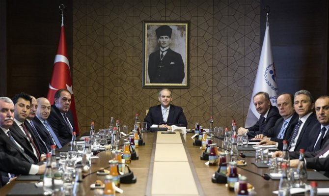 Bakan Kılıç, TFF Başkanı Demirören ve PTT 1. Lig başkanları ile buluştu