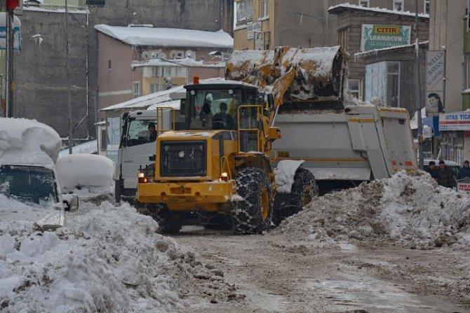 Belediye yaklaşık 6 bin ton karı kamyonla şehir dışına taşıdı