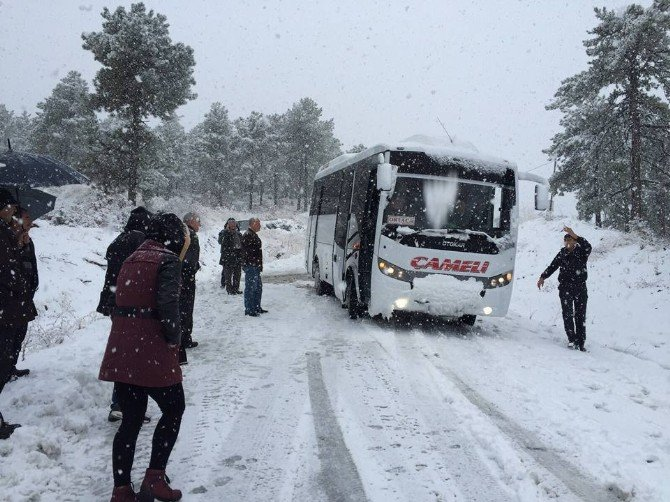 Fethiye - Çameli Karayolu Kar Nedeniyle Ulaşıma Kapandı