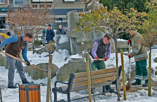 Kırklareli'nde Karla Mücadele Çalışmaları