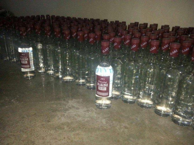 Şanlıurfa'da Sahte İçki İmalathanesine Baskın