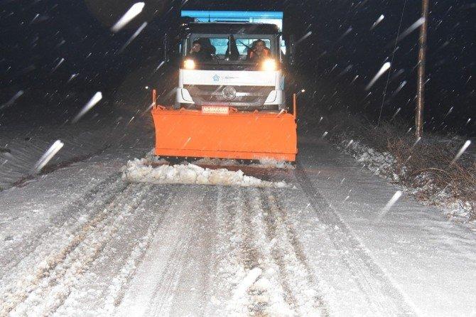 Tekirdağ'da Kar Temizleme Çalışmaları