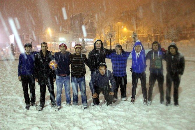 Kahramanmaraş'ta kar yağışı etkili oluyor