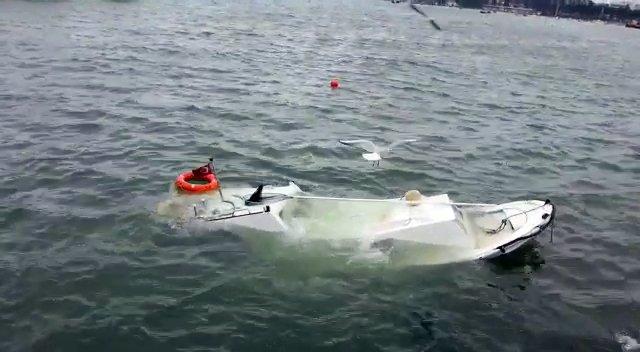 Fırtına tekne batırdı