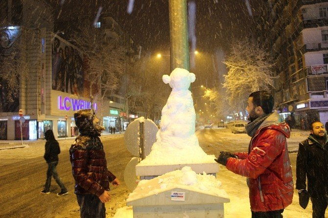 Kahramanmaraş'ta Kar Sevinci