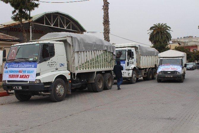 Ceyhan Belediyesi'nden Bayırbucak Türkmenlerine Yardım