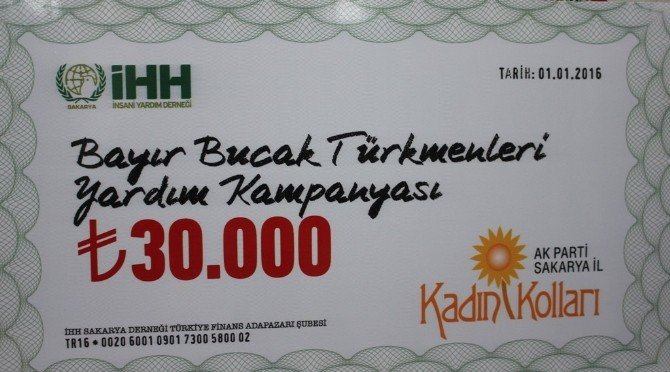 AK Partili Kadınlardan Bayırbucak Türkmenlerine 30 Bin TL'lik Yardım