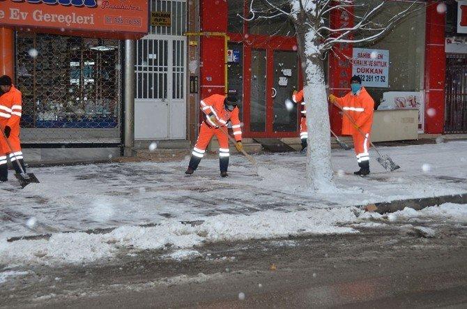 Başkan Gürkan, Karla Mücadele Çalışmalarını Yerinde İnceledi