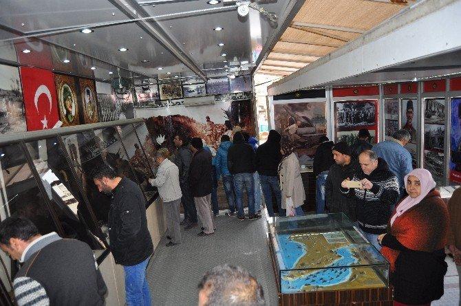 Çanakkale Savaşı Gezici Müzesi Korkuteli'de