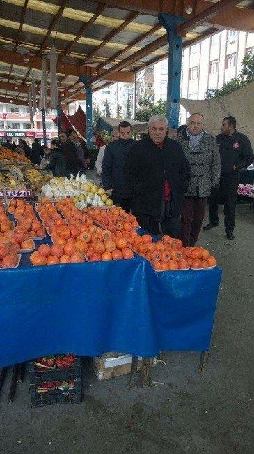 Çukurova Zabıta Müdürü Şahin, Semt Pazarlarını Denetledi