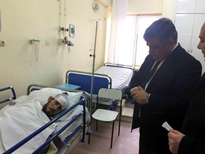 Başkan Özgüven Yaralıları Ziyaret Etti