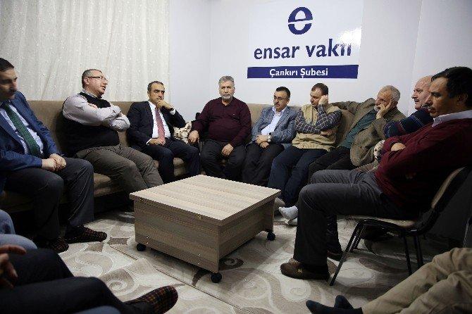AK Parti Siyasi Ve Hukuki İşler Başkan Yardımcısı Cuma İçtan Ensar Vakfı'na Konuk Oldu