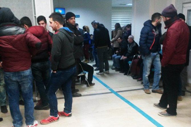 Amasya'da acil servislerde yoğunluk yaşanıyor