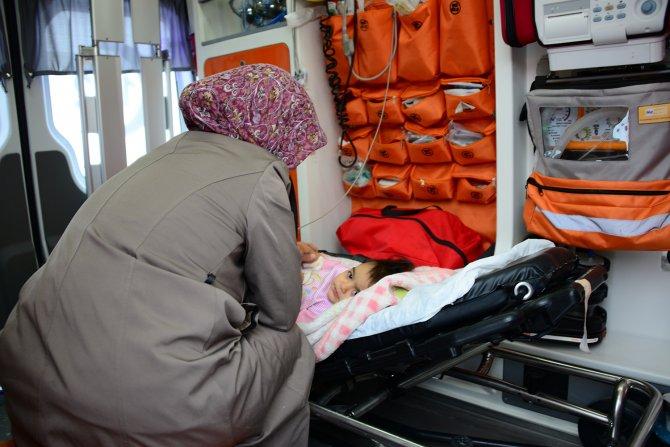 1.5 yaşındaki bebeği hastaneye yetiştirme operasyonu
