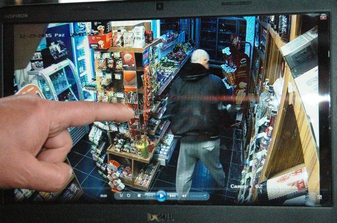 Lüks otomobilli hırsız güvenlik kameralarına takıldı