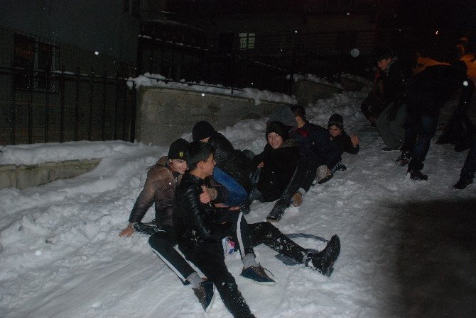 Tokat'ta Kar Yağışı