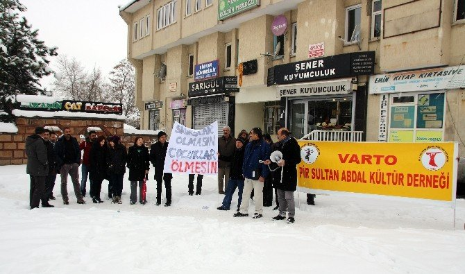 Varto'da Basın Açıklaması