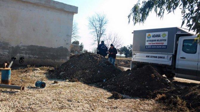 ASKİ, Çiçekli Mahallesi'ne su ulaştırıyor