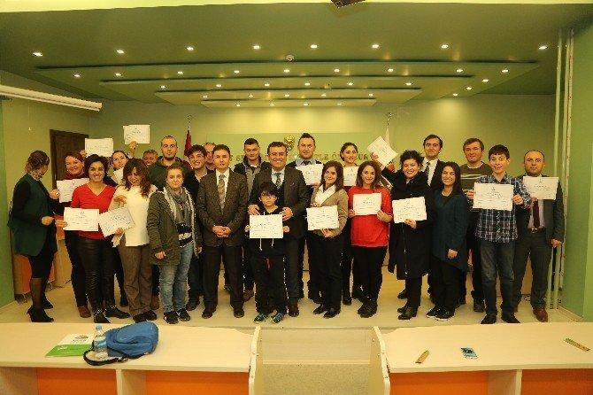 Atakum'da 'İşaret Dili' Kursiyerlerine Sertifika