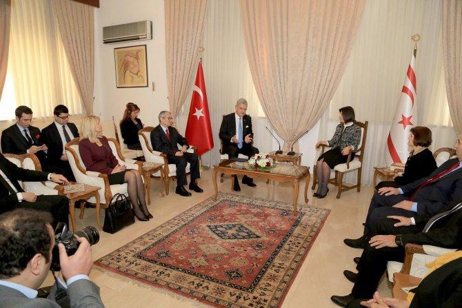 AB Bakanı Bozkır, KKTC Meclis Başkanı Siber'i ziyaret etti