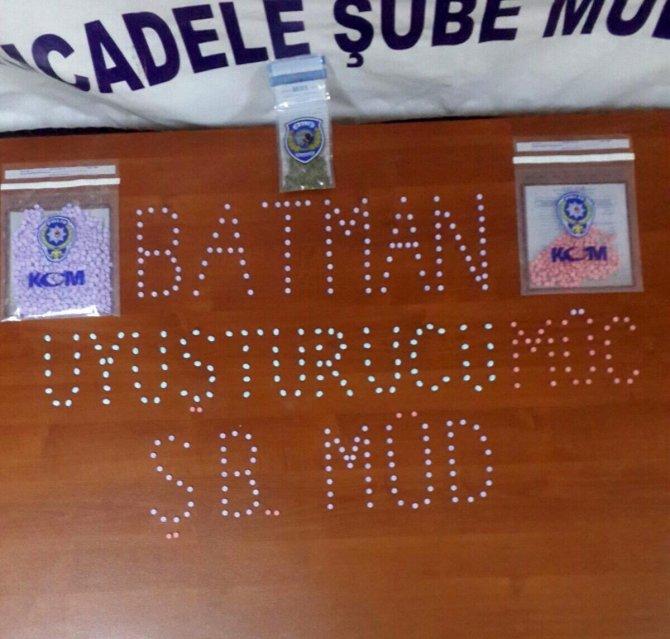 Batman'da bin 321 adet Extacy hap ele geçirildi