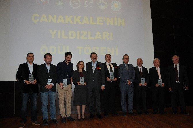 Çanakkale'de TOBB Lisesi'nin Temeli Atıldı, Ekonominin Yıldızlarına Ödülleri Verildi