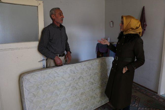 Çankırı Belediyesi'nden mülteci ailelere ortopedik yatak yardımı