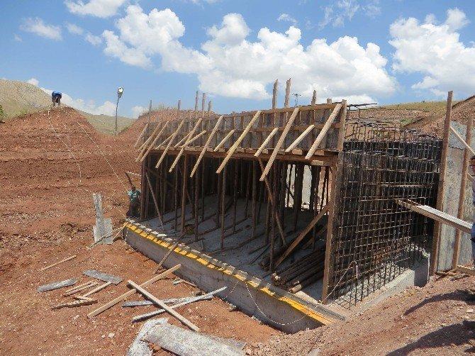 Erzincan'a Can Suyu Olacak Çadırkaya Göleti Yüzde 79 Seviyesine Ulaştı