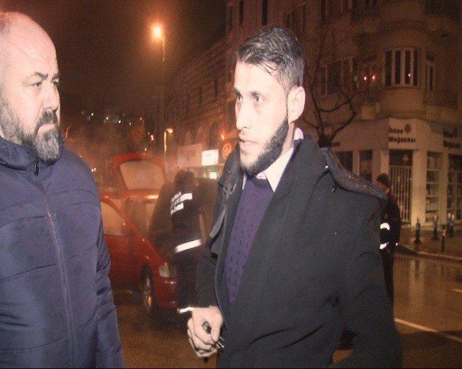 Suriyeli Vatandaşın Kullandığı Araç Alev Aldı