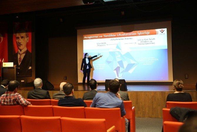 AGÜ'de, Avrupa Birliği Ufuk 2020 Programı Ulusal Bilgi Günü Düzenlendi